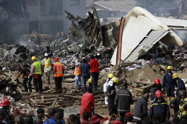 A Commercial Plane Crashes In Lagos.