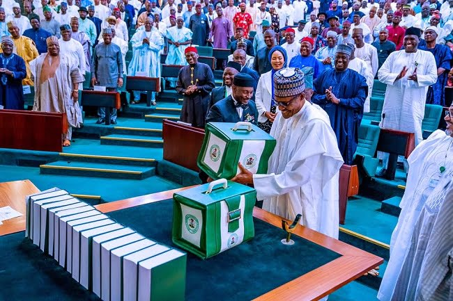 Buhari presents 2020 budget to NASS