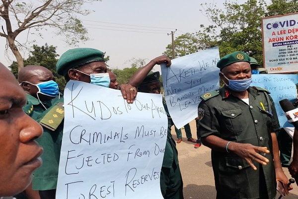 Protest Rocks Akure Over Akeredolu's Vacation Order