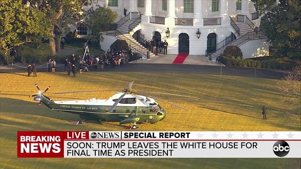 Breaking: Trump Leaves The White House