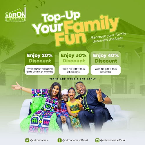 """You're N25k Away From Being ALandlord In Adron Homes """"Easter Family Fun"""" Promo"""