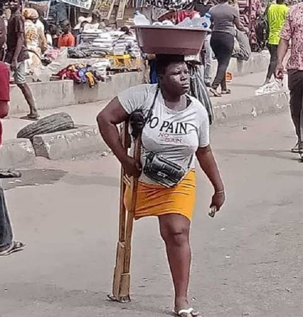 Lagos Hands Over Amputee Sachet Water Hawker To Police Over Deceit