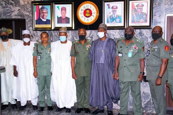 Boko Haram: Zulum, Borno's Senators Visit CDS, COAS In Abuja