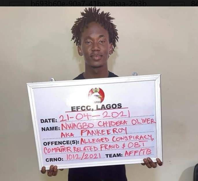 EFCC Arrests Instagram Comedian, 34 Others For Alleged Internet Fraud In Lagos