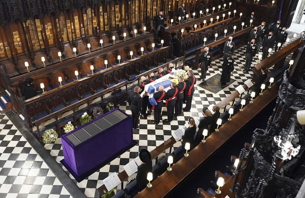 Tears As Prince Philip Laid To Rest