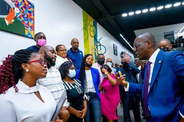 Sanwo-Olu at Tech Hub Yaba