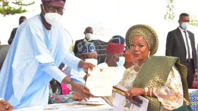 Sanwo-Olu and one of the Local council chairmen