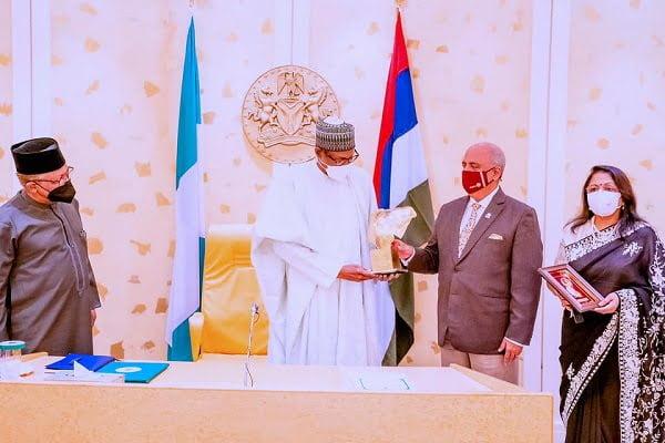 Buhari and Rotary president
